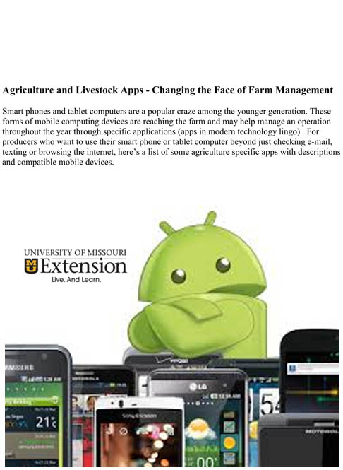 Agriculture and Livestock Apps - Changing the Face of Farm Management